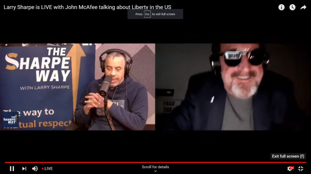 John McAfee and Larry Sharpe